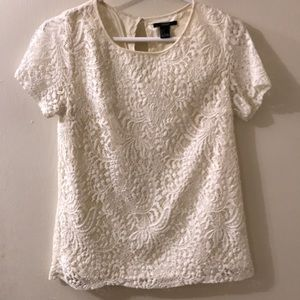 Forever21 white lace blouse